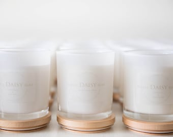 Custom Wedding Favours  X-LARGE Natural Soy Candles - 100x110mm