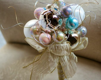 CUSTOM CHRISTMAS Bridesmaid's Ornament Bouquet - to fit your style, budget & colors