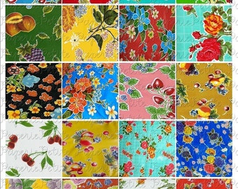 Oilcloth Digital Download Collage Sheet 2 x 2 inch