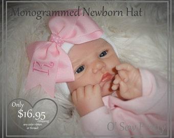 newborn hat girl, newborn hat, Initialed newborn hat , newborn girl hat, newborn hospital hat, personalized newborn hat, baby beanie