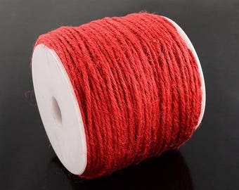 5 m of Red create jewelry or other Ø 2 9 mm hemp cord