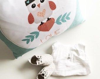 Owl always love you - Decorative Pillow Case, Throw Cushion Cover, Pillow Cover Cover, Decor, Throw Pillow Cover, Cushion Cover
