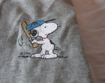 Adult Snoopy Baseball Shirt