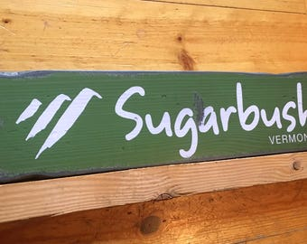 Sugarbush Resort, Handcrafted Rustic Wood Sign, Ski Resort Sign, Mountain Decor for Home and Cabin, 1127