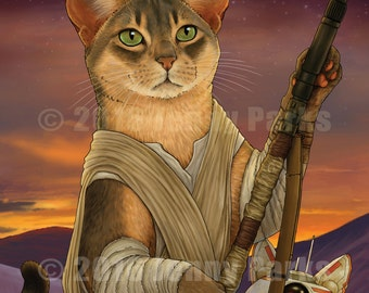 Rey and BB-Cat 11x17 Poster
