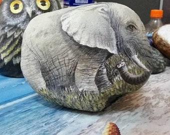 stone painting elephant