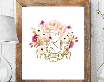 Obgyn Print, Midwife Art Print, Birth Art, Pregnancy Art, Obgyn Print, Midwife Print, Fetus Print, Anatomy Art, Medical Art Print, Doula Art
