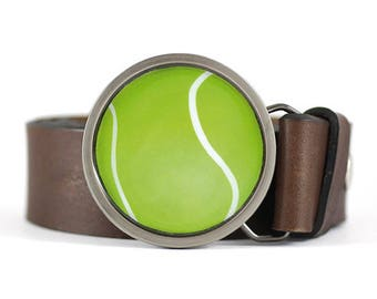 Tennis ball Belt Buckle, Sport belt buckle, Ball belt buckle