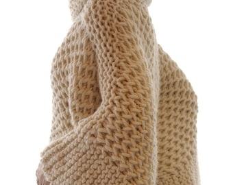 Instructions to make: the Misti Brioche Honeycomb Sweater PDF Pattern