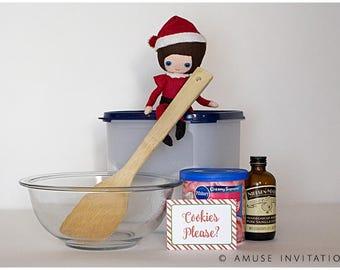 Christmas Cookies Please, Elf Cookies, Christmas Elf Accessories, Santa's Elf Prop, Elf Printable, Christmas Elf Ideas, Easy Elf Ideas