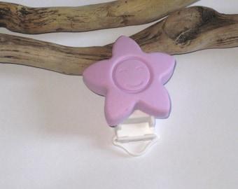 Clip Daisy silicone pacifier clip