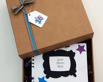 "Sweet Sixteen Guest Book - Sweet 16 gift - Birthday guest book - birthday guestbook - 16th birthday memory book - 8""x8"" boxed scrapbook"