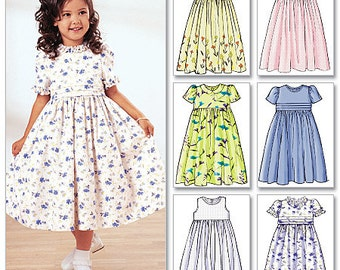 Butterick Pattern 3762 Childrens' & Girls' Dress