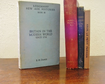 Vintage book Britain in the Modern World since 1714 EH Dance hardback 1952 illustrated British English UK History Political Social 8 (X)
