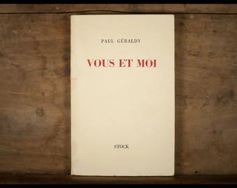 Paul GERALDY / du und ich / Editionen Lager / 1960