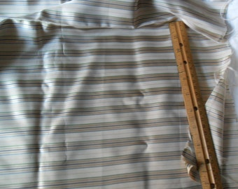 """Sale - Vintage Striped Polyester Fabric - 95"""" long x 45"""" wide"""