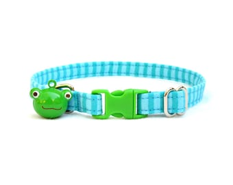 pool stripe CAT Collar with your choice of bell or charm