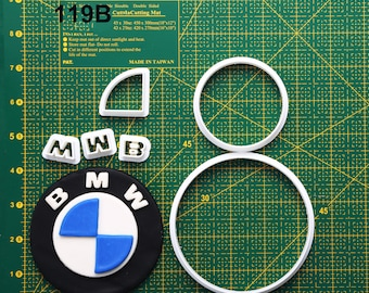 Bmw Cookie Cutter Bmw Fondant Cutter Bmw Party  Bmw Birthday Bmw Baby Bmw Cake Topper Bmw Invitation