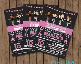 5 x 7 inch Ballerina Party Invitation - Ballerina Invitation - Personalised Birthday Invite - Dance Party - Ballerina Printable Invitation!