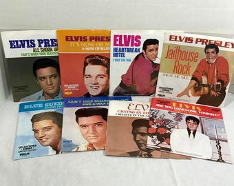 8 Elvis Presley vinyl records 45 rpm Limited Edition RCA Collector's Series VG+
