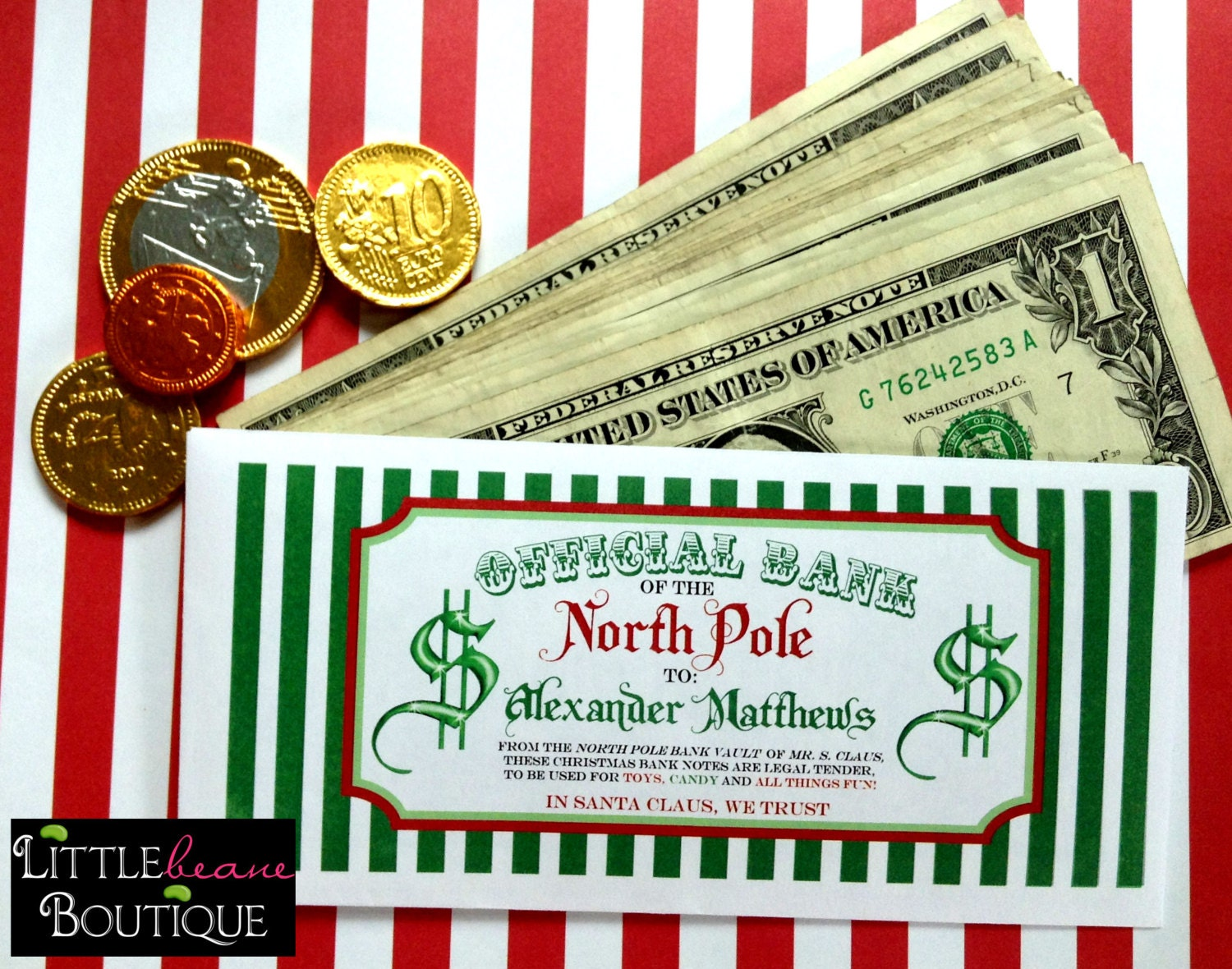Personalized Christmas Money Envelopes Money Gift Ideas 6