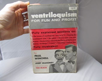 The Key to Ventriloquism for Fun and Profit Paul Winchell Paperback Book First Edition Ottenheimer 1954 Hobby How To Vintage Fully Explained