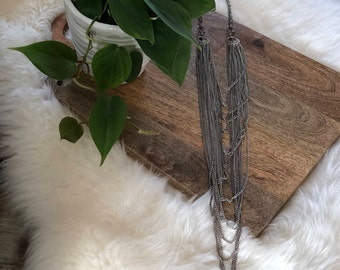 vintage layered chain necklace | jewelry