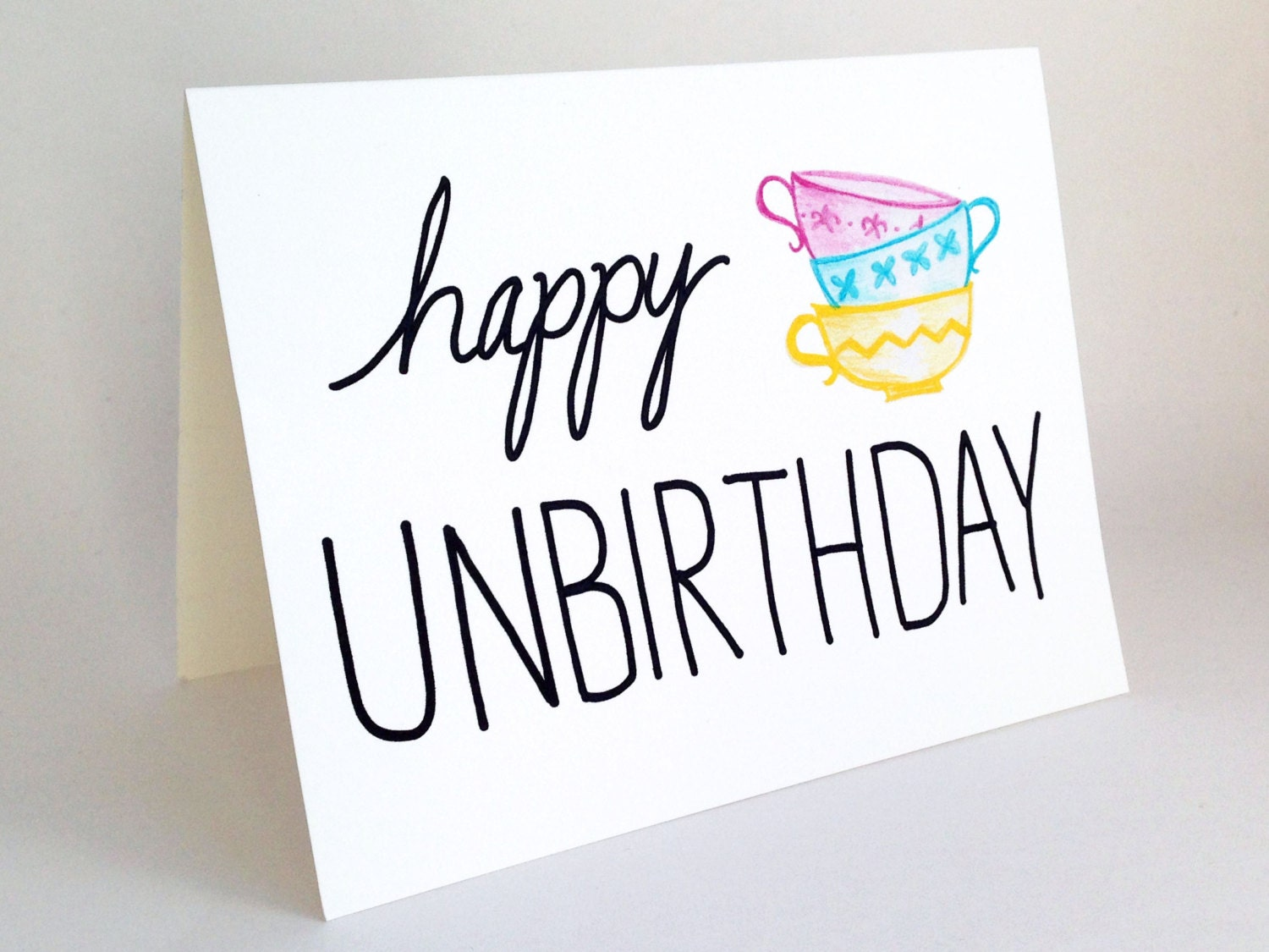 Funny Belated Birthday Card // Happy Unbirthday Card // Alice