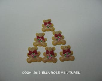 12th scale miniature handcrafted Teddy Bear Cookies