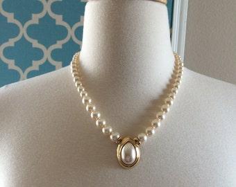 Napier pearl short necklace