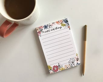 Notes and Things Notepad