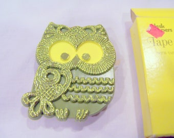Owl tape dispenser, never used, mint in box, vintage 1970s