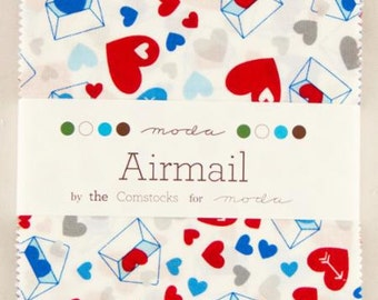 AIRMAIL Charm Packs by the Comstocks for Moda.