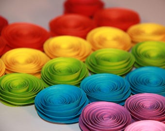 Roll paper flowers
