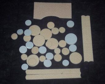 Self-stick felt pads,de-stash, assorted rounds and pieces,38 pcs total,furniture leg pads,crafts