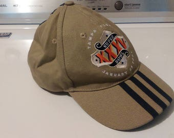 Super Bowl XXXV Tampa Florida Beige Hat By Adidas