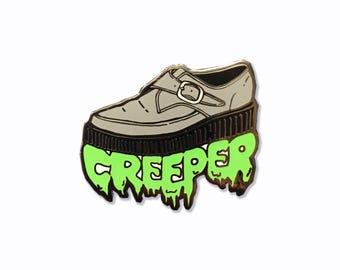 "Enamel Pin: Creeper Shoe - Hard Enamel 1.25"""