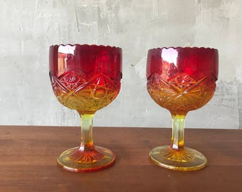 Amberini pair of goblets