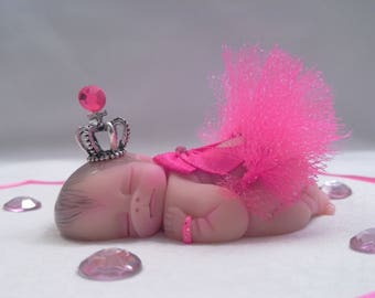 "Polymer Clay Baby "" Tiny Princess "" BABY SIZE 2.5"" Gift, Collectible, Keepsake, Home Decor, Display, Cake Topper"