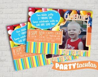 Jelly Bean Birthday Invitation