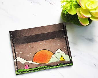 Mens Mountain wallet, mens pocket wallet, mens minimalist wallet wallet, mountain wallet, unisex wallet