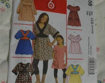 McCalls 5458 Childrens and Girls Dresses and Tops Sewing Pattern - UNCUT  Sizes 3 4 5 6