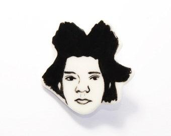 Handmade by Hesukinae Studio, Handmade Jean-Michel Basquiat Brooch