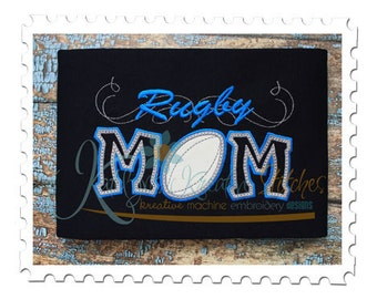 Rugby Mom Applique with a Twist