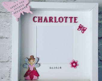 Personalised Fairy Picture photo Frame, Fairy Decor, Wall Art, Fairy Frame, Magical