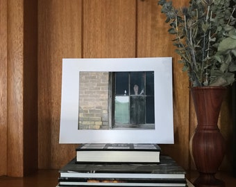 Window industrial still life with brick building