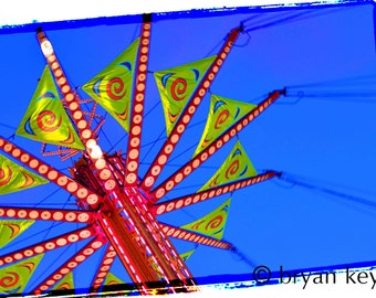 "Carnival Swings photograph on 36"" x 24"" canvas"
