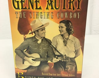 Gene Autry 5 Video Box Set Collection//Exclusive Original Full Length Versions//Vintage 5 Set Video Collection