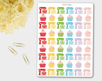 Baking Stickers, Planner Stickers, Cooking Stickers,  Kitchen Aid Stickers - Erin Condren Life Planner, Filofax