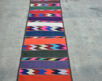 Long Long Handwoven Multi color vintage  runner >>>> WHOLEESALE PRICE